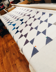 Mid-October quilt finally on the longarm.