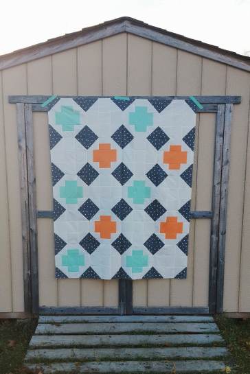 Greek Cross quilt top