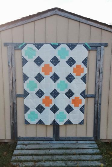 Greek Cross quilt top